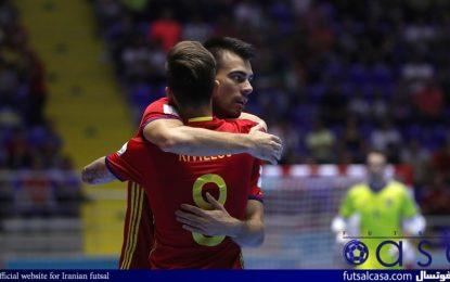 ویدئو/جام جهانی فوتسال کلمبیا ۲۰۱۶؛خلاصه بازی دو تیم اسپانیا و مراکش