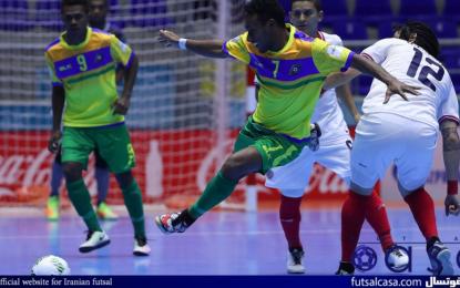 ویدئو/جام جهانی فوتسال کلمبیا ۲۰۱۶؛خلاصه بازی دو تیم کاستاریکا و جزایر سلیمان