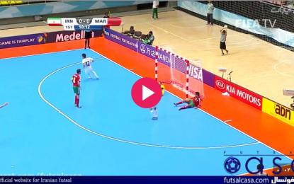 ویدئو/جام جهانی فوتسال کلمبیا ۲۰۱۶؛خلاصه بازی تیم ملی فوتسال ایران در بازی مقابل مراکش