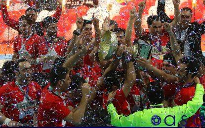 ویدئو/ مراسم اهدای جام قهرمانی لیگ برتر فوتسال به گیتی پسند