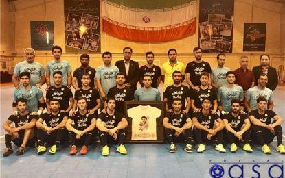 ادای احترام اعضای تیم ملی فوتسال به شهید حججی+تصاویر