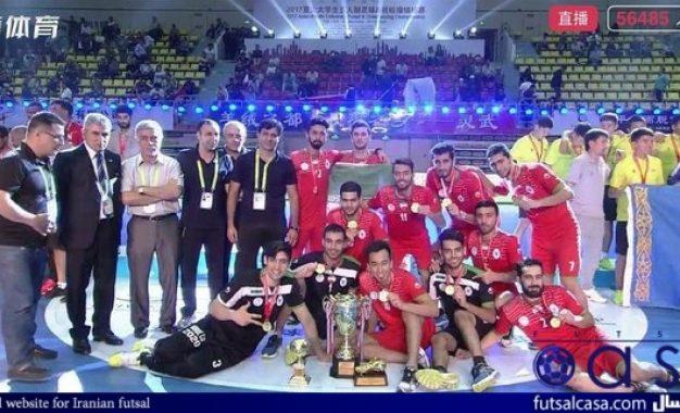 با پیروزی مقابل عمان؛تیم ملی فوتسال دانشجویان ایران بر بام آسیا ایستاد