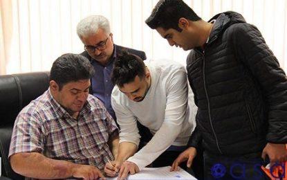 ثبت قرارداد بازیکن برزیلی جدید مس سونگون در هیات فوتبال آذربایجان شرقی