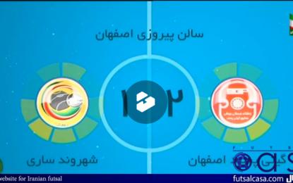 ویدئو/خلاصه بازی دو تیم گیتی پسند اصفهان و شهروند ساری