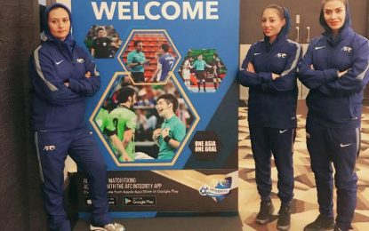 قضاوت داوران ایرانی در اولین روز رقابت های قهرمانی فوتسال بانوان آسیا