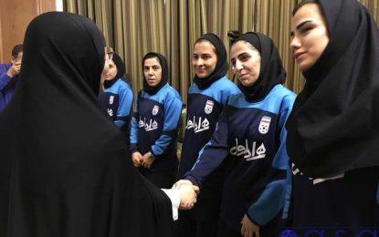 حضور دختران قهرمان فوتسالی در شورا