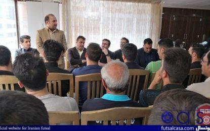 برگزاری جلسه معارفه رضا لک