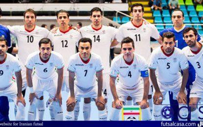 برتری تیم ملی فوتسال مقابل صربستان در دیدار اول