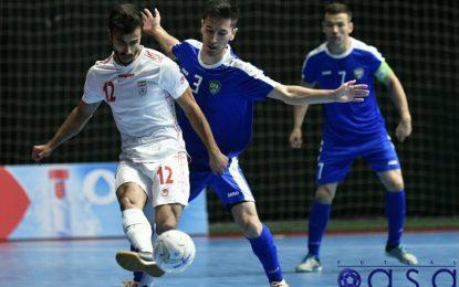 گزارش تصویری اولین دیدار دوستانه تیم های ملی فوتسال ایران و ازبکستان
