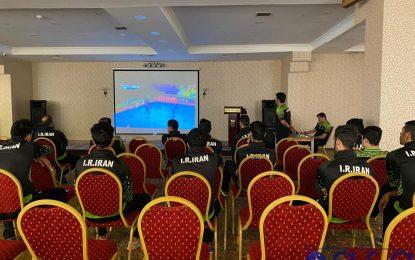 بازبینی فیلم بازی اول در جلسه فنی قبل از دیدار دوم قابل ازبکستان